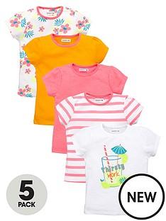 ladybird-girls-5pk-tshirts