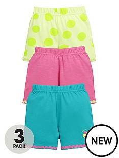 ladybird-baby-girls-3-pk-bright-summer-shorts