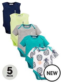 ladybird-baby-boys-5pk-bright-summer-bodysuits