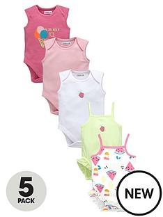 ladybird-baby-girls-5pk-summer-brights-bodysuits