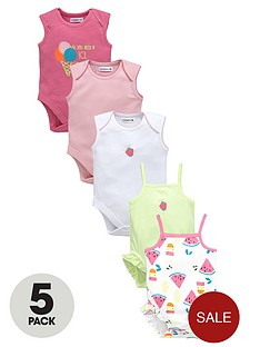 ladybird-baby-girls-summer-brightsnbspbodysuits-5-pack