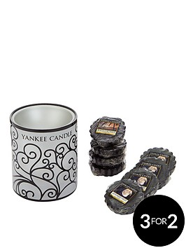 yankee-candle-electric-scroll-melt-warmer-with-8-classic-wax-melts