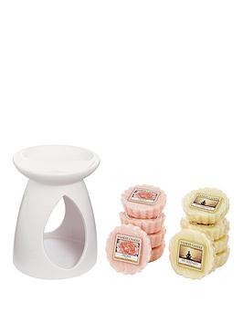 yankee-candle-10-classic-wax-melts-with-lilac-melt-warmer
