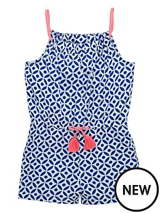 ladybird-girls-tile-print-playsuit