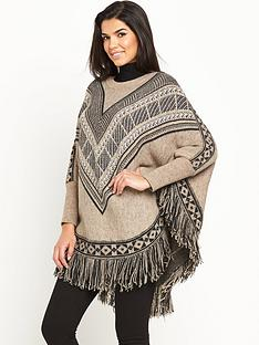 v-by-very-patterned-fringe-poncho