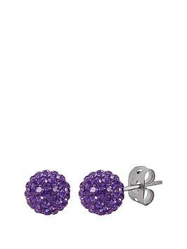 tresor-paris-tresor-paris-bonbon-crystal-amp-titanium-10mm-ball-stud-earrings