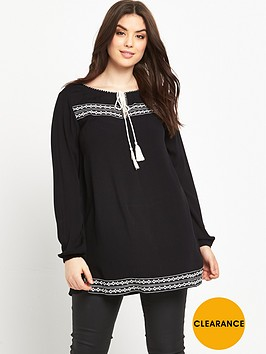 so-fabulous-embroidered-tassel-tie-blouse