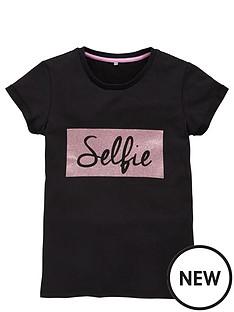 v-by-very-girls-selfie-glitter-print-tee
