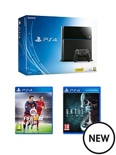 playstation-4-500gb-console-with-fifa-16-and-until-dawn