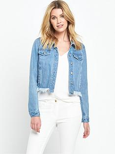 v-by-very-frayed-hem-denim-jacket