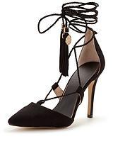 Harrow Ankle Tie Tassel Point Shoe