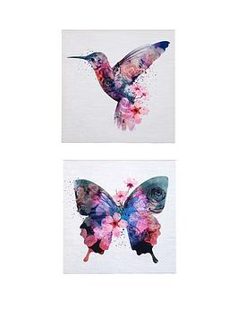 graham-brown-set-of-2-butterfly-amp-hummingbird-pictures