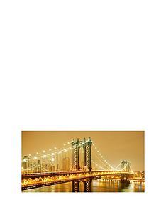 arthouse-golden-brooklyn-bridge-photographic-canvasnbspwall-art