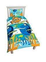 Finding Dory Reversible Single Size Duvet Cover and Pillowcase Set