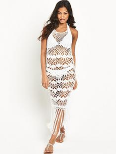 lipsy-high-neck-crochet-beach-dress