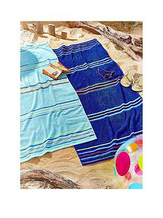 rainbow-beach-pack-of-2-blue-beach-towels