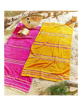 rainbow-beach-towel-pair-pink-amp-orange