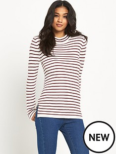 vila-taynbspnew-stripe-funnel-neck-top