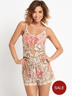 myleene-klass-metallic-crochet-beach-playsuit