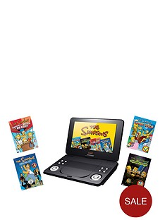 lava-9-inch-portable-dvd-player-with-simpsons-dvd-bundle