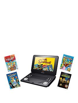LAVA 9 inch Portable DVD Player with Simpsons DVD Bundle