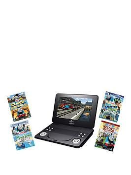 Lava 9 Inch Portable Dvd Player With Thomas &Amp Friends Dvd Bundle