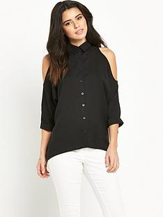 ax-paris-cold-shoulder-dip-back-shirt
