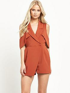 lavish-alice-open-sleeve-deep-plunge-tailored-playsuit