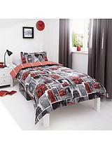 London Bus Rotary Duvet Cover - Multi