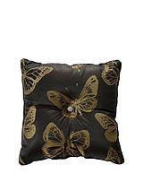 Metallic Jacquard Butterfly Filled Cushi