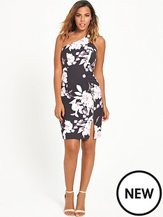 rochelle-humes-one-shoulder-printed-dress