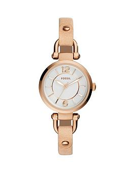 fossil-georgia-mini-rose-and-sand-ladies-watch