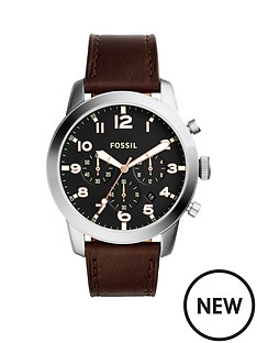 fossil-pilot-black-dial-brown-leather-strap-mensnbspwatch