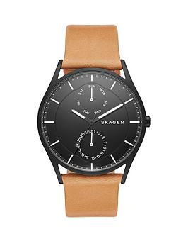 skagen-holstnbsplight-brown-leather-strap-mensnbspwatch