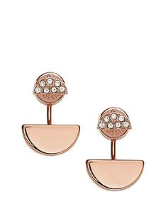 fossil-rose-gold-plated-crystal-stud-earrings