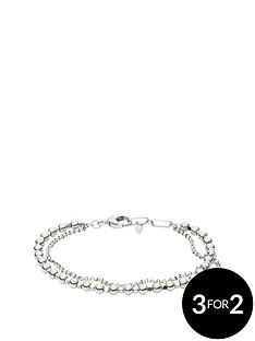 fossil-silver-tone-multi-layered-bead-bracelet