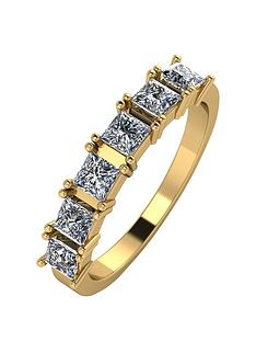 moissanite-9ct-gold-105-carat-princess-cut-six-stone-eternity-ring