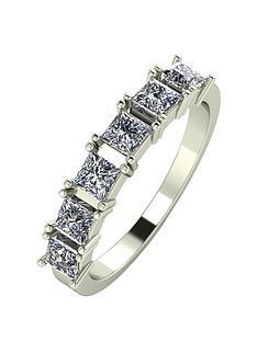 moissanite-9ct-gold-105-carat-princess-cut-six-stone-eternity-ring