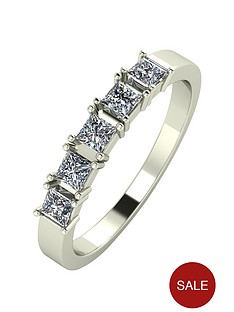 moissanite-9ct-gold-60-point-princess-cut-five-stone-eternity-ring
