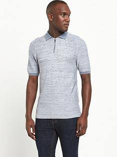 river-island-short-sleeved-panel-knitted-polo-top