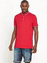 Short Sleeve Solid Tipped Pique Polo