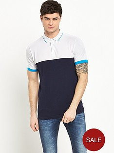 v-by-very-short-sleeve-pique-colour-block-polonbsptop