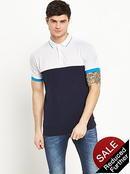 v-by-very-short-sleeve-pique-colour-block-polonbsptop