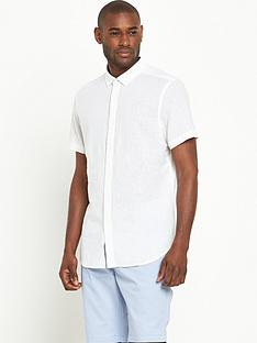 v-by-very-short-sleeve-linen-shirt