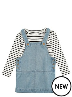 river-island-mini-girls-dungaree-dress-andnbspstripey-t-shirt