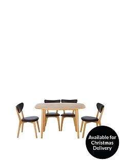scandinbsp120-cm-diningnbsptable-4-chairs