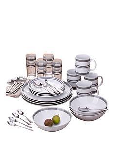 bistro-stripe-36-piece-grey-dinner-set