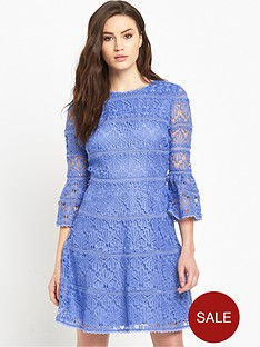 v-by-very-fluted-sleeve-crochet-lace-dress