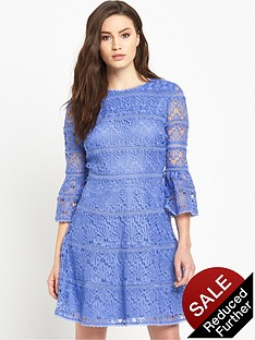 v-by-very-fluted-sleeve-crochet-lace-dress