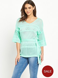 v-by-very-pointellenbspstitch-belted-kaftan